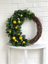 Load image into Gallery viewer, Lemon wreath- no bow
