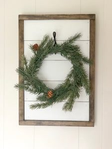 Shiplap wreath sign