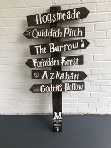 Harry Potter arrow sign