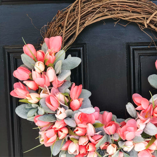 Penny pink tulip wreath