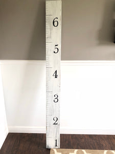 Measuring stick, growth chart