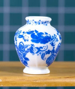 Delft Style Vase-Dollshouse Hampshire