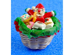 Basket of Christmas Treats-Dollshouse Hampshire