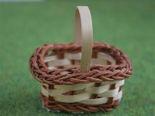 Basket 2 Tone-Dollshouse Hampshire
