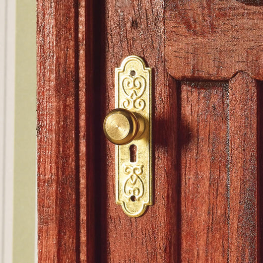 Door Handle with Finger Plates-Dollshouse Hampshire