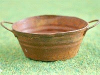 Rusty Oval Bowl-Dollshouse Hampshire