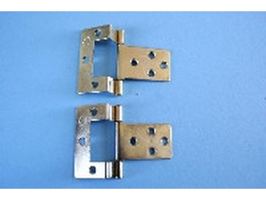 2 Cranked Hinges with Screws-Dollshouse Hampshire