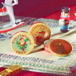 3 Christmas Tins-Dollshouse Hampshire
