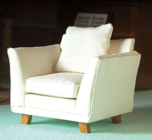 Cream Chair-Dollshouse Hampshire