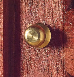 Brass Knob, pair-Dollshouse Hampshire