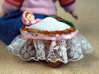 Baby in Cradle-Dollshouse Hampshire