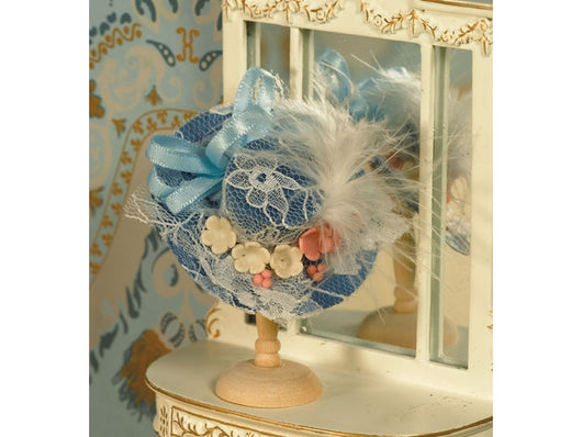 Pretty Blue Hat-Dollshouse Hampshire