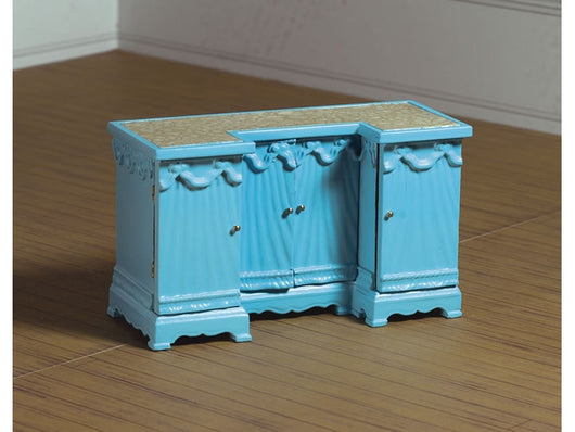 Blue Dressing Table-Dollshouse Hampshire