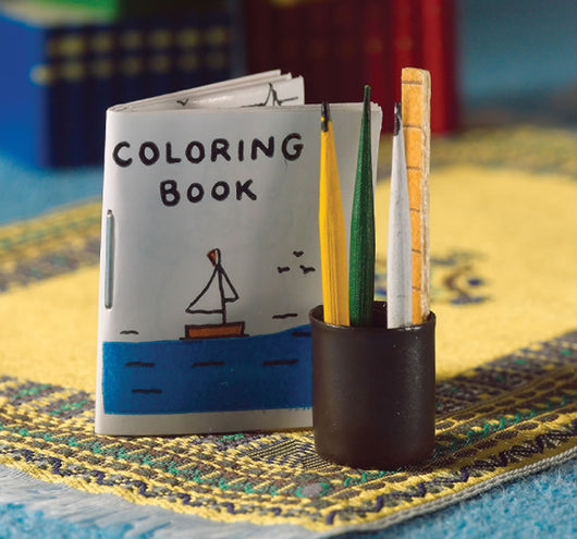 Colouring Book & Pencils-Dollshouse Hampshire
