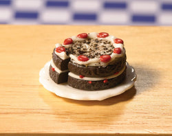 Chocolate & Cherry Gateau-Dollshouse Hampshire