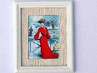 Lady in Red Picture-Dollshouse Hampshire