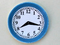 Blue Plate Clock-Dollshouse Hampshire