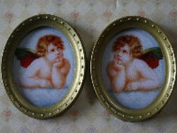 2 Cherub Pictures-Dollshouse Hampshire