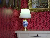 LED Blue & White Table Lamp-Dollshouse Hampshire