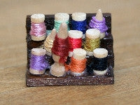 Stand with cotton reels-Dollshouse Hampshire