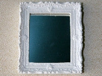 White Edged Mirror-Dollshouse Hampshire
