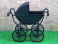 Black Pram-Dollshouse Hampshire