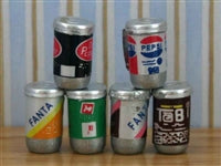 6 Drinks Cans-Dollshouse Hampshire