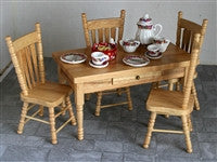 Pine Table & Chairs-Dollshouse Hampshire