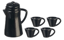 Black Coffee Set-Dollshouse Hampshire
