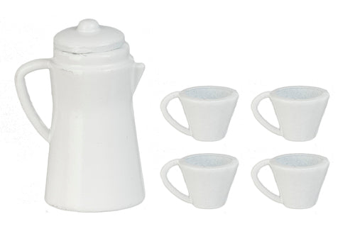 White Coffee Set-Dollshouse Hampshire
