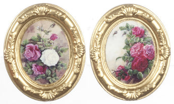 2 Oval Pictures-Dollshouse Hampshire