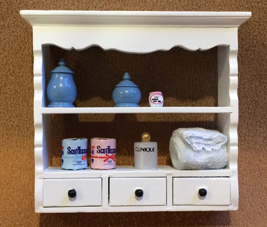 Dressed Bathroom Shelves-Dollshouse Hampshire