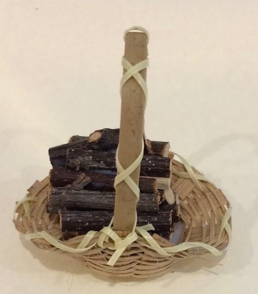 Basket with Logs-Dollshouse Hampshire