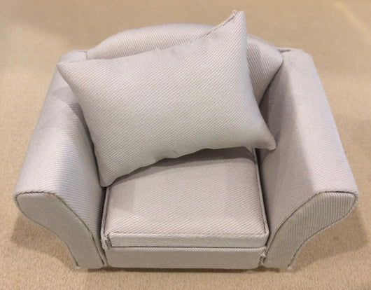 Grey Chair-Dollshouse Hampshire