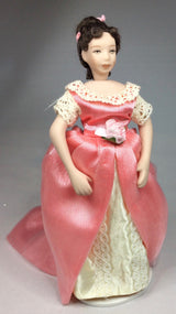 Vintage Doll in Pink Dress-Dollshouse Hampshire