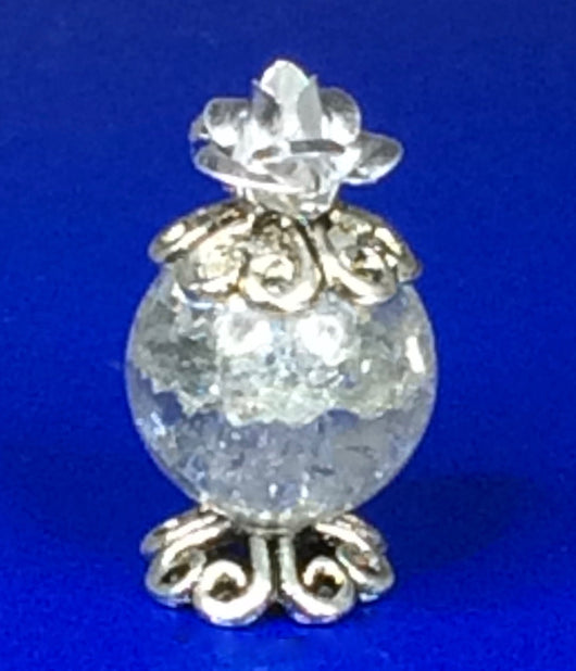 Perfume Bottle Silver Rose-Dollshouse Hampshire