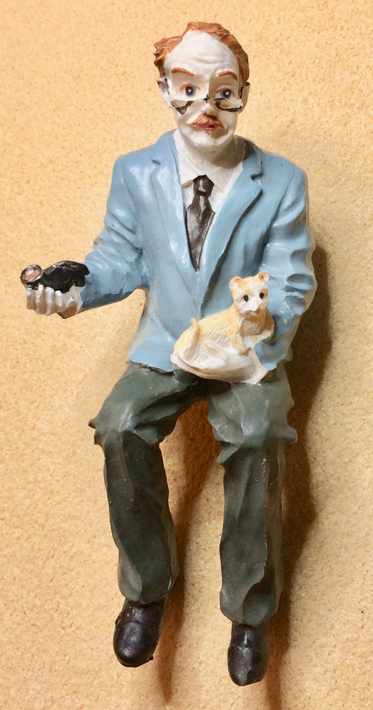 Man with Cat-Dollshouse Hampshire