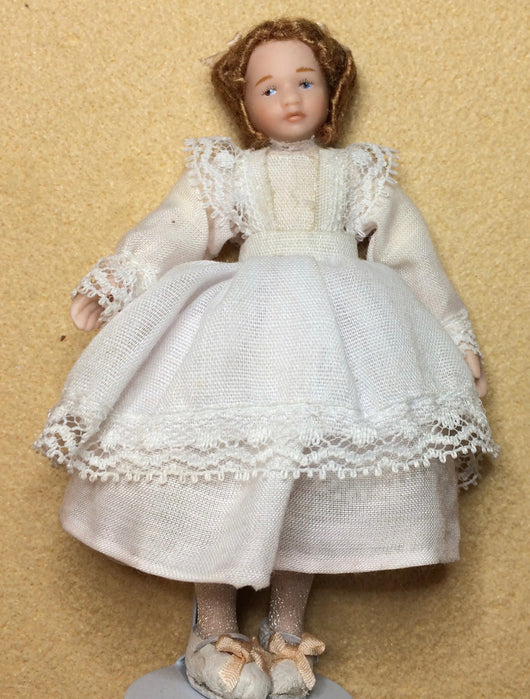 Girl Doll in Dress-Dollshouse Hampshire