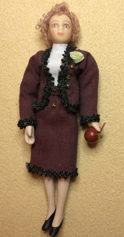 Doll with Apple-Dollshouse Hampshire