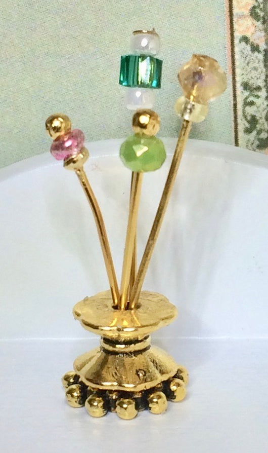 Hat Pins yellow/green-Dollshouse Hampshire