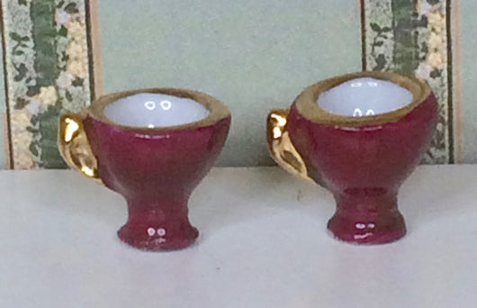 Vintage Shapely Cups-Dollshouse Hampshire