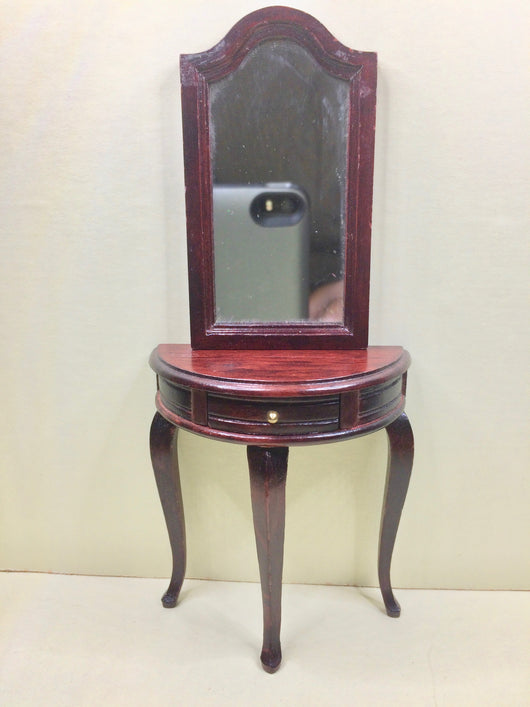 Vintage Hall Table & Mirror-Dollshouse Hampshire