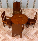 Vintage 16th Table & 4 Chairs-Dollshouse Hampshire