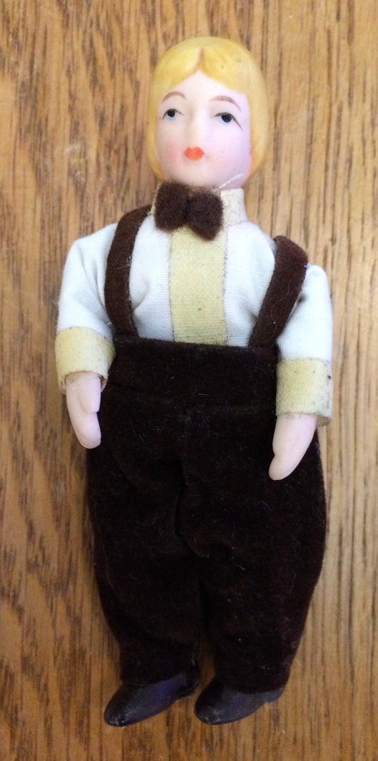 Vintage Boy in Brown-Dollshouse Hampshire