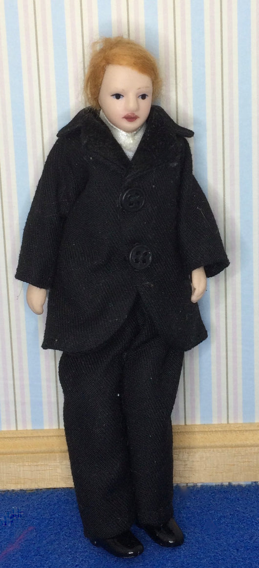 Vintage Man in Black-Dollshouse Hampshire