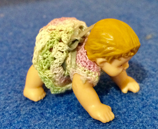 Vintage Baby in Hand Knitted Clothes-Dollshouse Hampshire