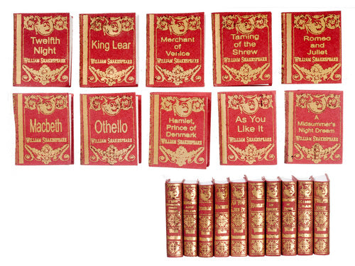 10 Books by Shakespeare-Dollshouse Hampshire