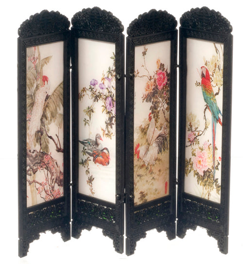 Chinese Bird Picture Screen-Dollshouse Hampshire