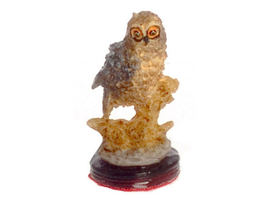 Owl on Plinth-Dollshouse Hampshire