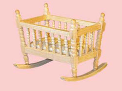 Barewood Cradle-Dollshouse Hampshire